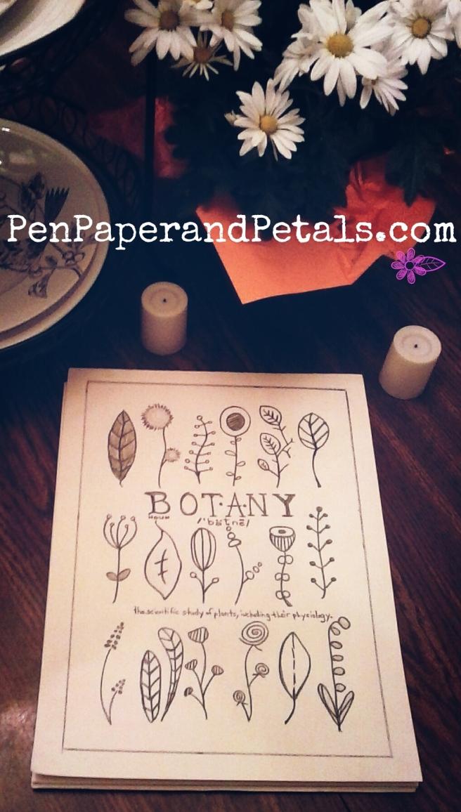 Botany sketch