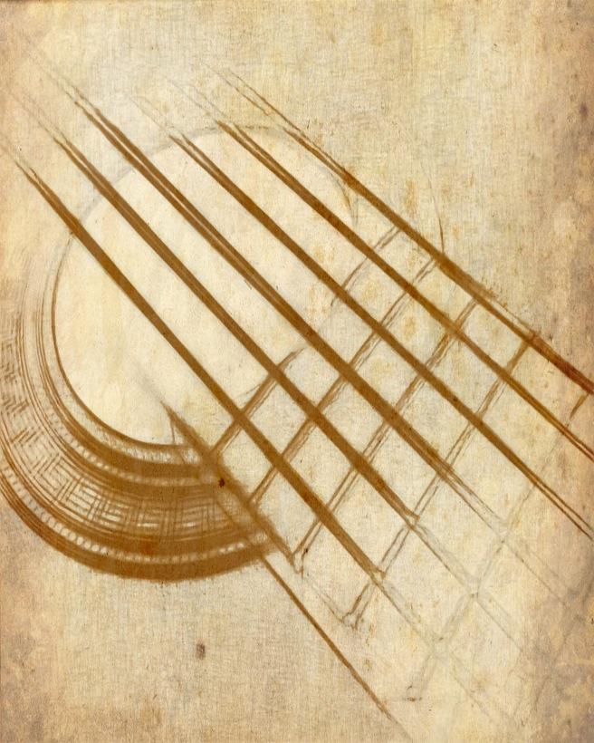 Guitar Strings 8 x 10 PenPaperandPetals