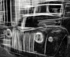 Vintage Car Sketch Gray