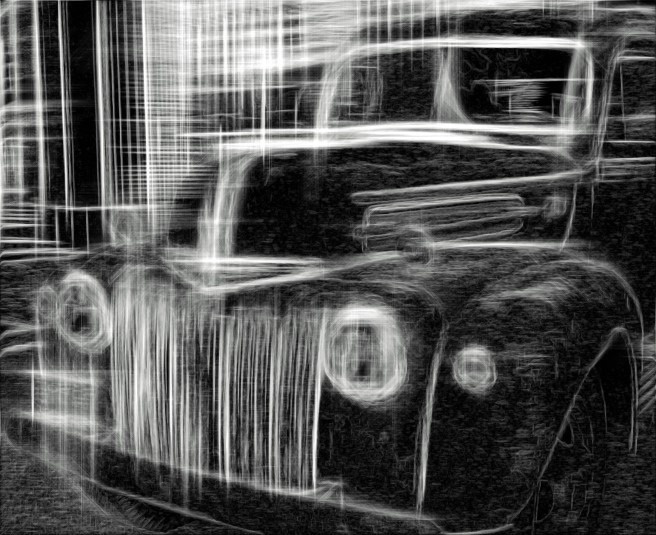 Vintage Car Sketch Gray