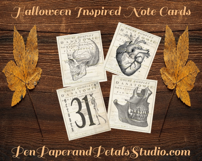 Halloween Inspired Note Cards Ad