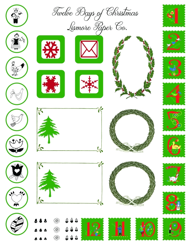 Twelve Days of Christmas by Lismore Paper