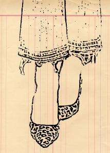 Fashion Illustration Leopard Fray 5 x 7