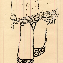 Fashion Illustration Leopard Fray 5 x 7