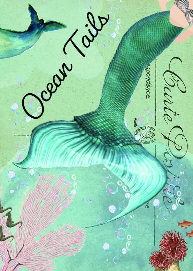 Ocean Tails on Postcard 5 x 7