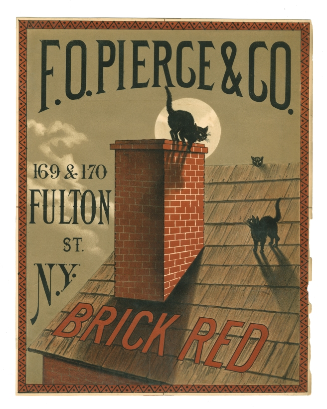 Brick Red Cat 8 x 10