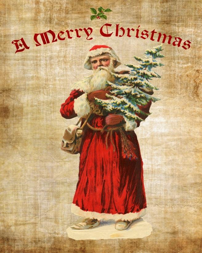 A Merry Christmas Santa 8 x 10
